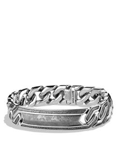 Meteorite Curb Chain ID Bracelet by David Yurman in No Escape