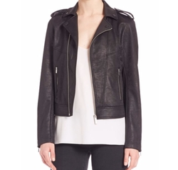 Leather Effect Biker Jacket by The Kooples in Quantico