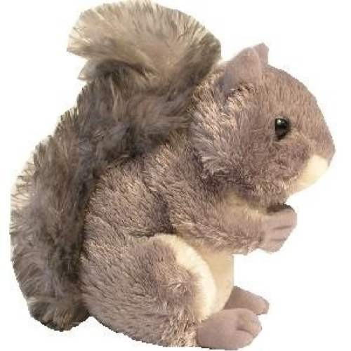 Realistic Stuffed Gray Squirrel Plush Animal Toy by Aurora in Crazy, Stupid, Love.