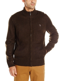 Men's Marled Full-Zip Sweater by U.S. Polo Assn. in Silicon Valley