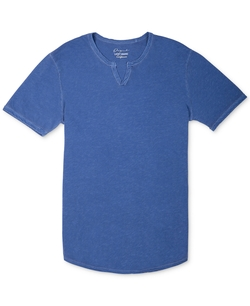 Split-Neck Slub T-Shirt by Lucky Brand in Wet Hot American Summer