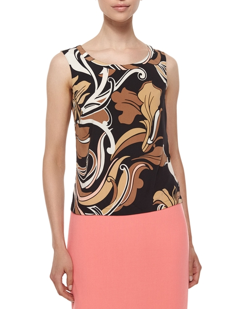 Swing-Floral Print Tank Top by Escada in Scream Queens - Season 1 Episode 2