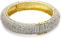 Diamond Gold And Silver Bangle Bracelet by Shery Shabani in Top Five