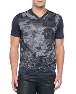 Camo Rhinestone Tee Shirt by Versace Collection in Ballers
