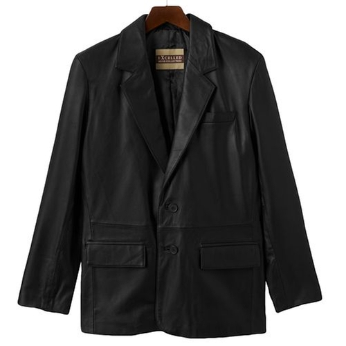 Leather Blazer Jacket by Excelled in Daddy's Home