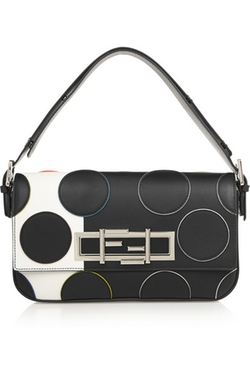 Baguette Polka-Dot Leather Shoulder Bag by Fendi in Empire