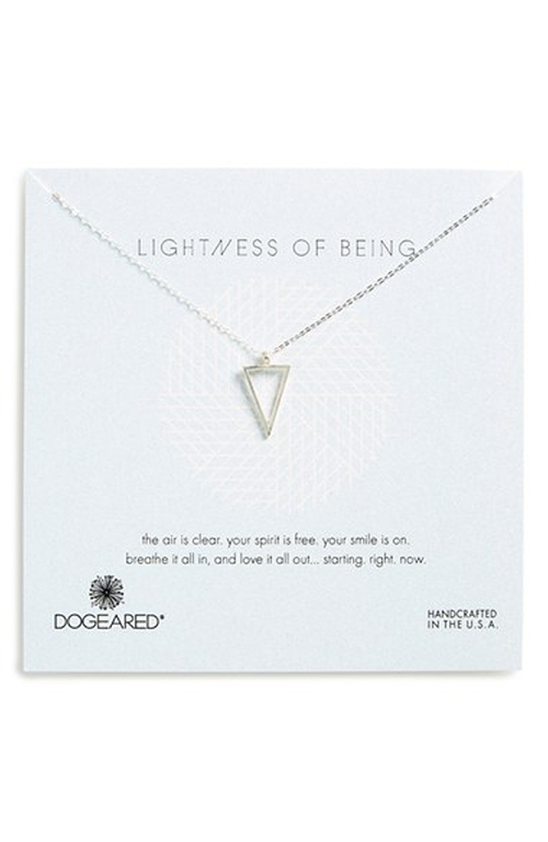 Triangle Pendant Necklace by Dogeared in Modern Family - Season 7 Episode 1