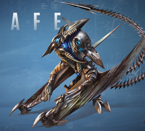 Strafe by Aaron Archer (Concept Artist) in Transformers: Age of Extinction