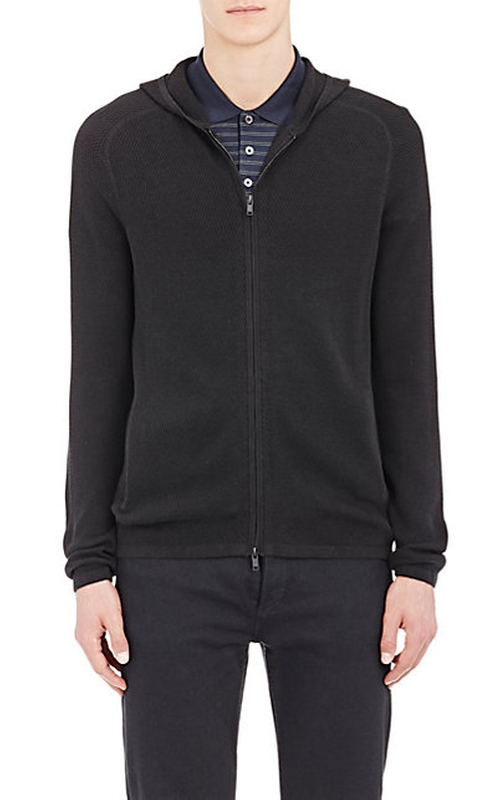 Melker Breach Zip-Front Hoodie by Theory in The Mindy Project - Season 4 Episode 11