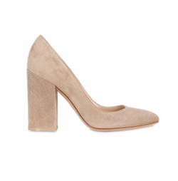Suede Pumps by Gianvito Rossi in Rosewood
