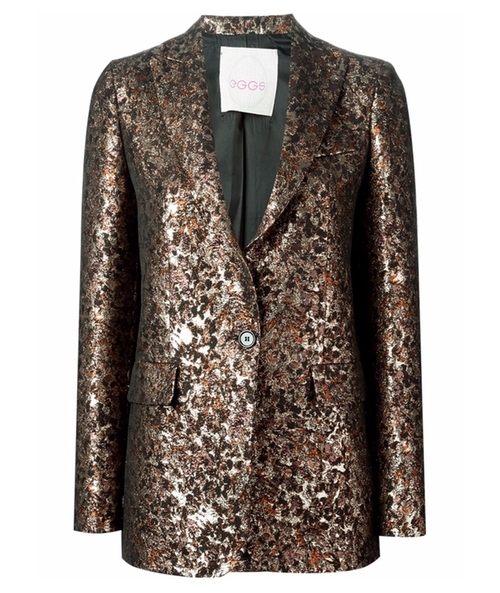 Metallic Jacquard Blazer by Eggs in The Good Wife - Season 7 Episode 22