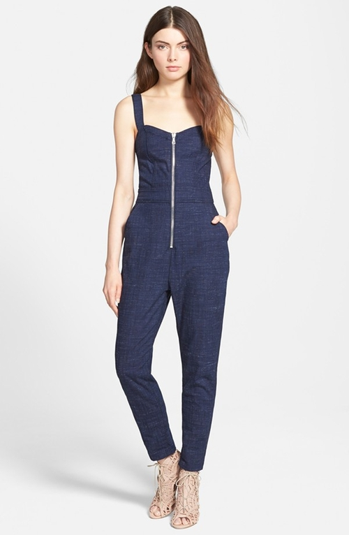 Zip Bodice Jumpsuit by 7 For All Mankind in The Mindy Project - Season 4 Episode 3