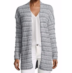 Lerado Mohair Blend Textural Stripe Cardigan by Joie in New Girl