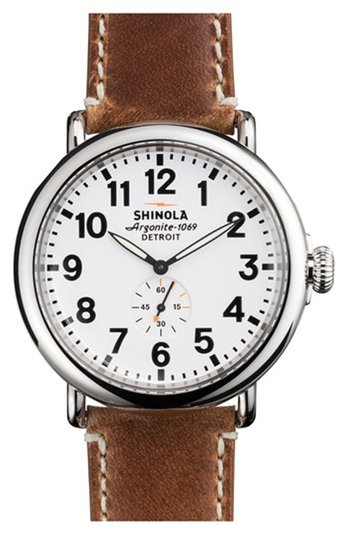 The Runwell Leather Strap Watch by Shinola in Brooklyn Nine-Nine
