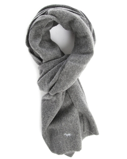 Cashmere Wool Scarf by Maison Kitsuné in Blackhat