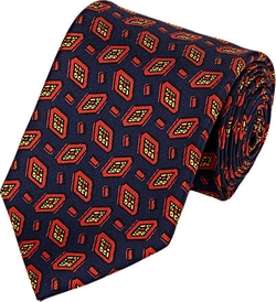 Diamond Medallion Faille Necktie by Drake's in The Big Bang Theory