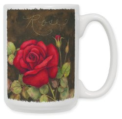 Rose Art Print Ceramic Coffee Mug by Art Plates Home Décor in The Best of Me