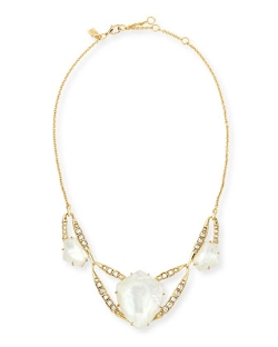 Geometric Mother-of-Pearl Bib Necklace by Alexis Bittar in The Second Best Exotic Marigold Hotel