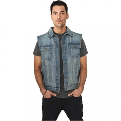 Denim Vest by Urban Classics in Ballers