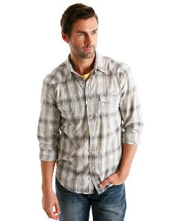 Classic Fit Larkspur Plaid Western Sport Shirt by LUCKY BRAND in Walk of Shame