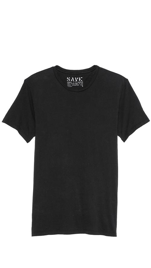 Short Sleeve Crew Neck T-Shirt by Save Khaki in Chronicle