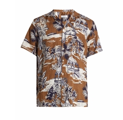 Gazebo-Print Linen Shirt by Etro in The Flash