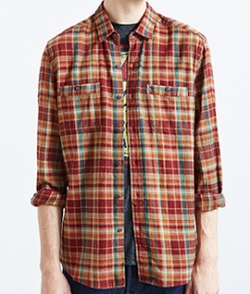 Frisco Plaid Flannel Button-Down Shirt by Stapleford in Teen Wolf