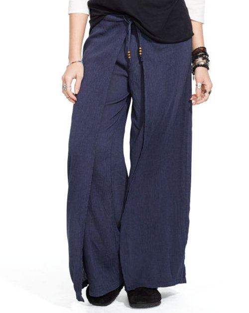 Smocked Wide-Leg Pants by Ralph Lauren in While We're Young