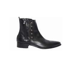 Leather Ankle Boots with Decorative Buttons by Jo Ghost in Shadowhunters