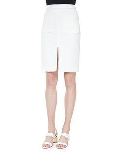 Two-Pocket Slit Pencil Skirt by L'Agence  in Mistresses