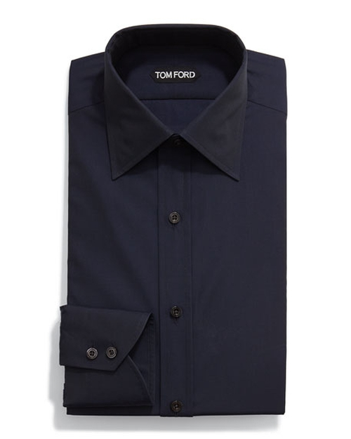 Classic Solid Dress Shirt by Tom Ford in Guilt - Season 1 Episode 3