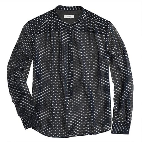 SILK DASH-DOT BLOUSE by J. CREW in About Last Night
