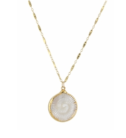 Mother of Pearl Fern Necklace by Peggy Li in How To Get Away With Murder