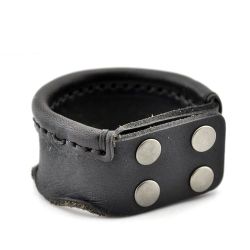 Vintage Rivet Adjustable Leather Bracelet by Sirius Jewelry in The D Train