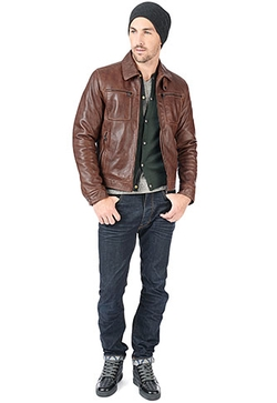 Hemingway Lamb Leather Jacket by Danier in Arrow