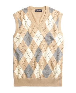 Cotton Cashmere Argyle Vest by Brooks Brothers in The Big Bang Theory