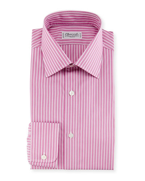 Ribbon-Striped Dress Shirt by Charvet in Sex and the City