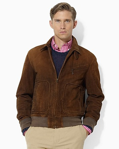 Brown Polo Wilstead Suede Newsboy Jacket by Ralph Lauren in The Man from U.N.C.L.E.