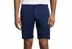 Pioneer Cotton Twill Flat-Front Shorts by Robert Graham in Flaked