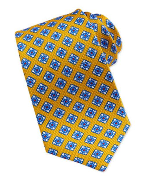 Floral-Print Grenadine Tie by Kiton in And So It Goes