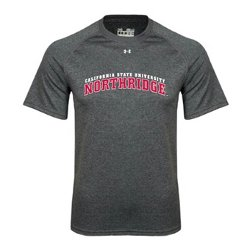 Cal State Northridge Carbon Heather Tech T-Shirt by Under Armour in Crazy, Stupid, Love.