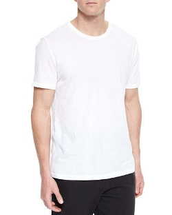 Basic Short-Sleeve Crewneck T-Shirt by T by Alexander Wang	 in Max