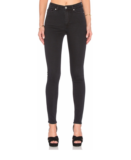High Snap Skinny Jeans by Cheap Monday in Why Him?