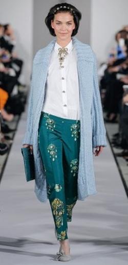 Embellished Pants by Oscar De La Renta in Empire