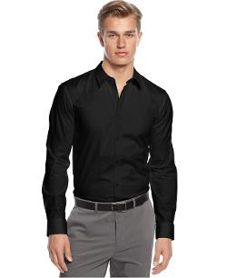 Shirt, Long Sleeve Core Elisha Shirt by HUGO in Walk of Shame