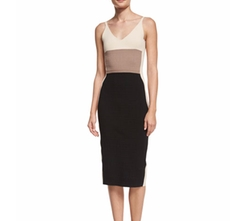 Sleeveless Colorblock Sheath Dress by Narciso Rodriguez in Quantico