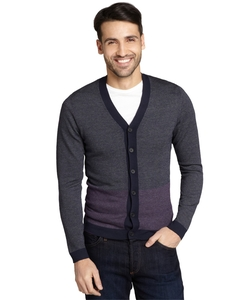 Colorblock Button Front Cardigan by Zegna in Scream Queens