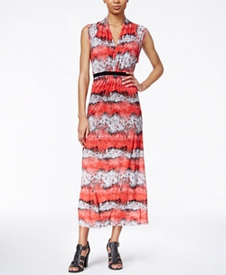 Printed Maxi Dress by Kensie in Mistresses