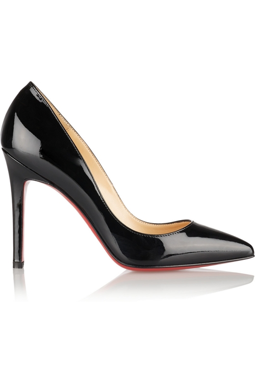 Pigalle Patent-Leather Pumps by Christian Louboutin in Suits - Season 5 Episode 5