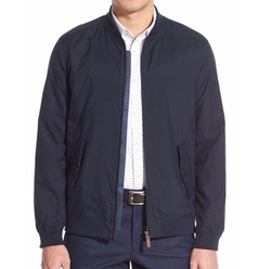 Microfiber Bomber Jacket by Ted Baker London in Criminal